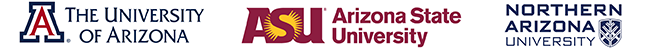 COM-P, NAU and ASU Logos