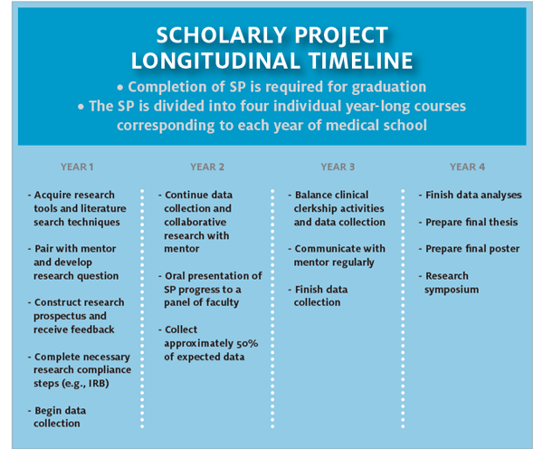 scholarly project timeline image