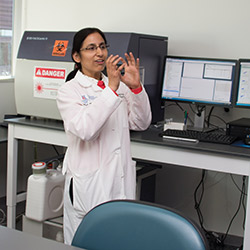 Dr. Kala from the Flow Cytometry Lab