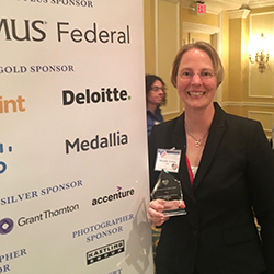 Michelle Dorsey, MD, with Her Award