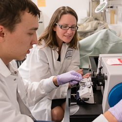 Taben Hale, PhD, Mentoring a Student in Her Lab