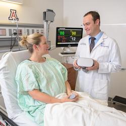 Dr. Steven Cowles with a Patient