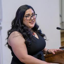 Estefania Lopez at the Pathways Graduation Ceremony