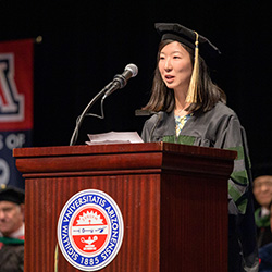 Aishan Shi, MD, Speaks at Commencement