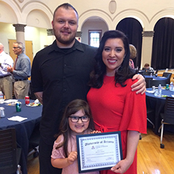 Yancey with Her Family at the Pathway Scholars Graduation