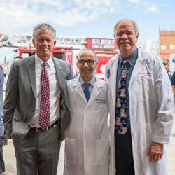 Samuel M. Keim, MD, MS, with Drs. Bobrow and Spaite