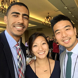 Daniel Kim (Right) with Fellow Med Students Phoebe Chang and Awad Mohamed