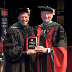 Dr. Fischione with Dean Reed at Commencement
