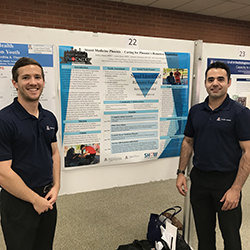 street medicine students with poster presentation