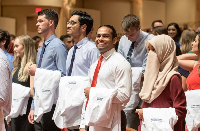 Class of 2023 Students at Symphony Hall During the White Coat Ceremony