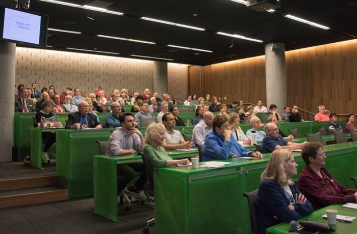Attendees in a Lecture Hall for a Buffmire Lecture