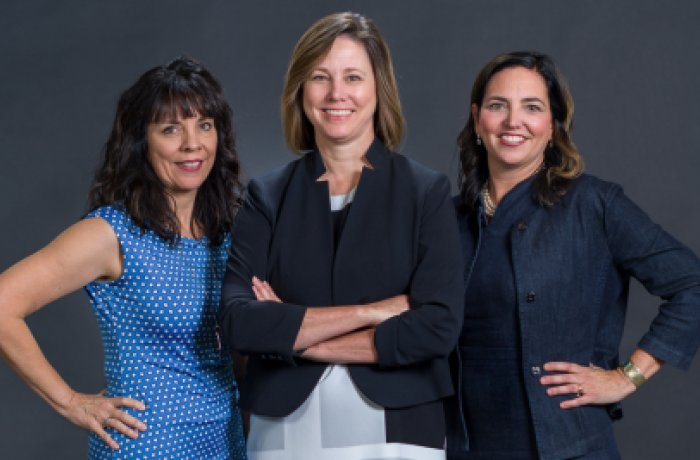 Maria Manriquez, MD (left), Susan Kaib, MD (center), and Cheryl O'Malley, MD (right)