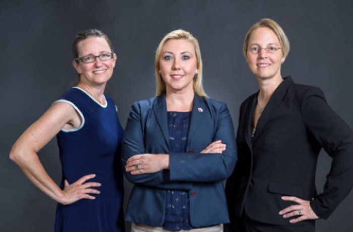 Taben M. Hale, PhD (left), Jennifer Hartmark-Hill, MD (center), and Michelle Dorsey, MD (right)