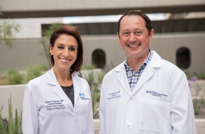 Allison Tompeck, MD, and Patrick Bosarge, MD