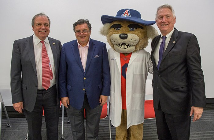 Michael Dake, MD, VP of UArizona Health Sciences, Michael Abecassis, MD, MBA, Dean of the College of Medicine – Tucson, Wilbur and Dean Reed, MD, MS