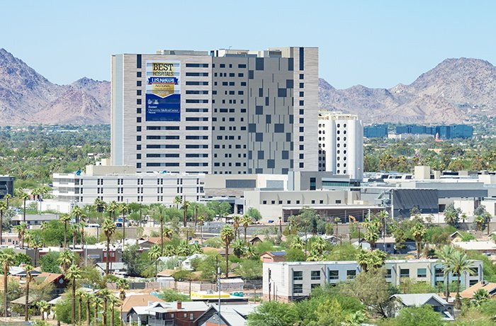 View of Banner - University Medical Center Phoenix from the South