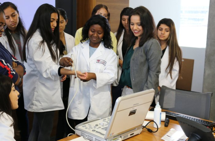 Participants in the Cardiology Academy are Introduced to Ultrasound Technology
