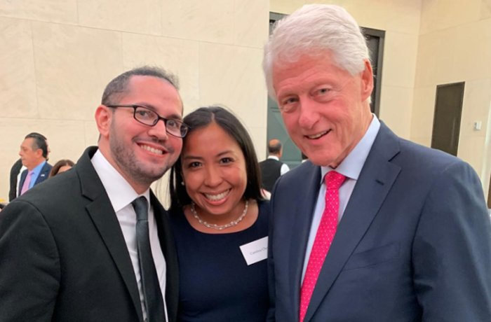 Dr. Correa with Fellow Scholar and President Bill Clinton