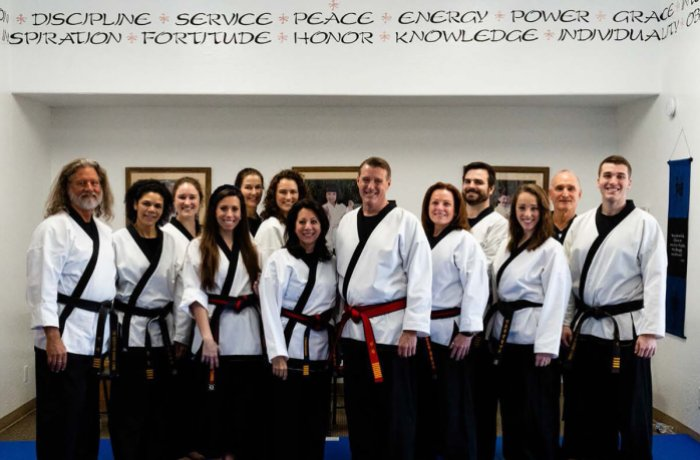 Dr. Michael Foley after Receiving His 8th Degree Grand Master Black Belt