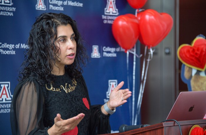 Martha Gulati, MD, Speaking at a Heart Month Press Conference