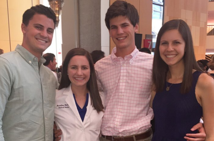 Madeline Heiland at Her White Coat Ceremony