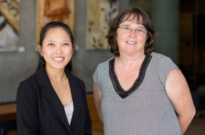 Second-Year Medical Student Julia Nguyen and Judith Hunt, MD