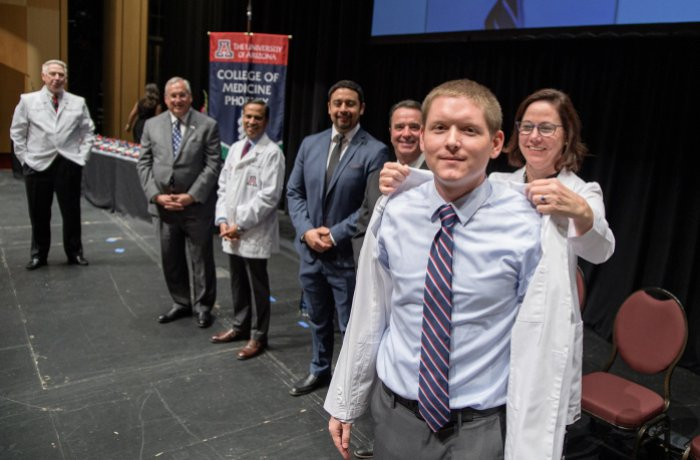 Jason Jorgensen at White Coat Ceremony
