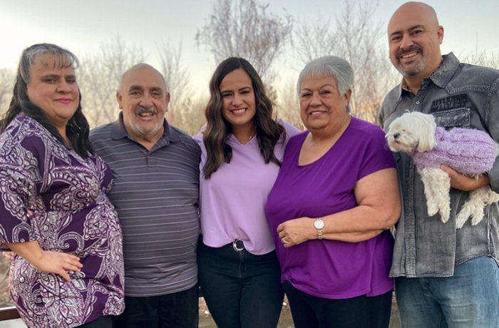 Medical Student Amber Sandoval-Menendez with Her Family