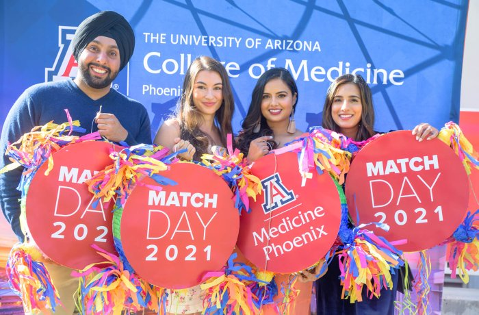 Medical Students Pick Up Their Matches Prior to the Class of 2021 Virtual Match Day
