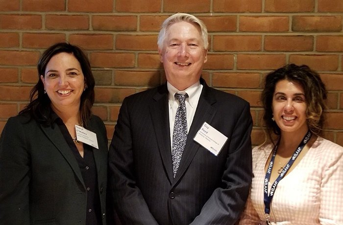 Drs. Cheryl O'Malley and Martha Gulati with Dean Guy Reed (Middle)
