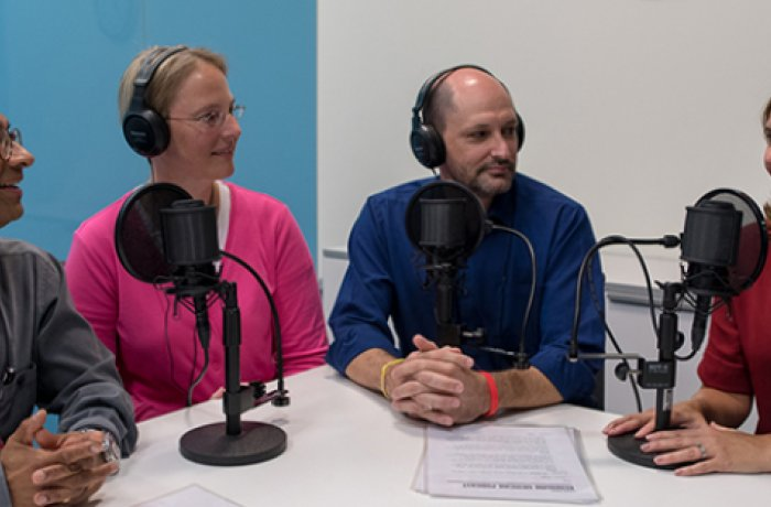 Podcast Hosts Jonathan Lifshitz, PhD, and Katie Brite, MD, with Guests