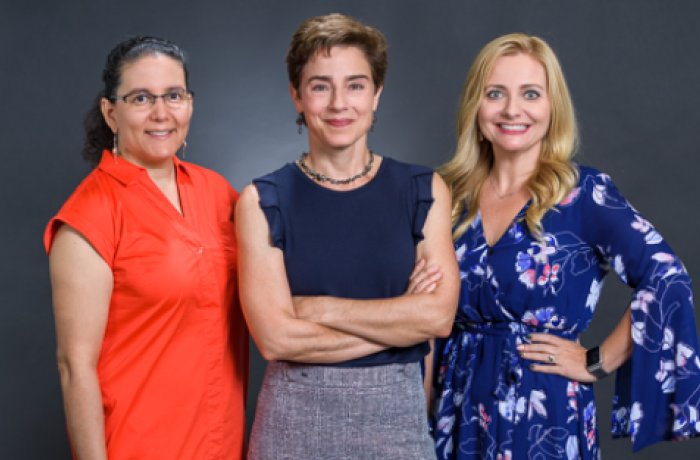 Rebecca Fisher, PhD (left), Amelia Gallitano, MD, PhD (center), and Melissa Herbst-Kralovetz, PhD (right)
