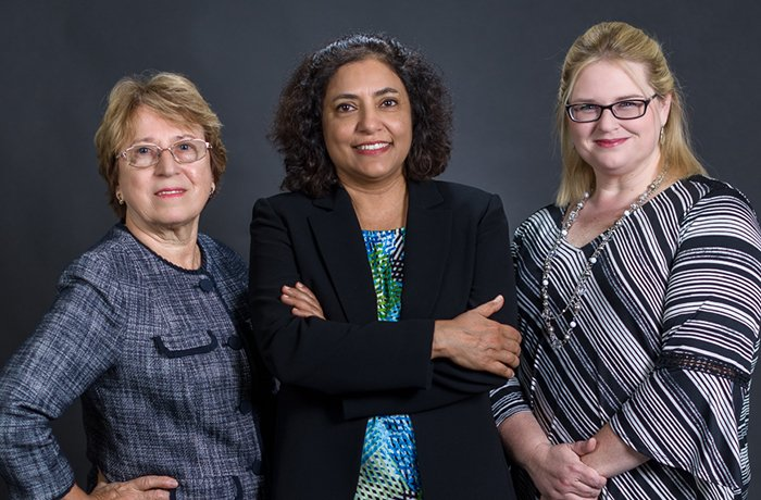 Ella Nikulina, PhD (left), Shalini Sharma, PhD (center), Theresa Currier Thomas, PhD (right)