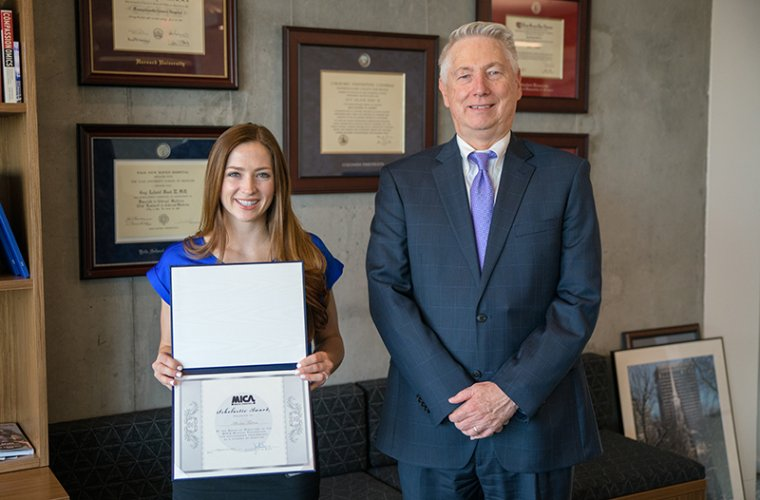 Alexia Tatem with Dean Guy Reed, MD, MS