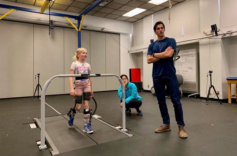Ben Conner Observes a Robotic Exoskeleton Test Session with a Typically Developing Volunteer