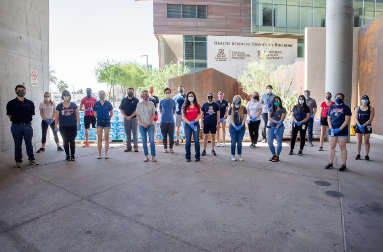 Medical Students and Faculty from the UArizona COVID-19 Student Service Corps