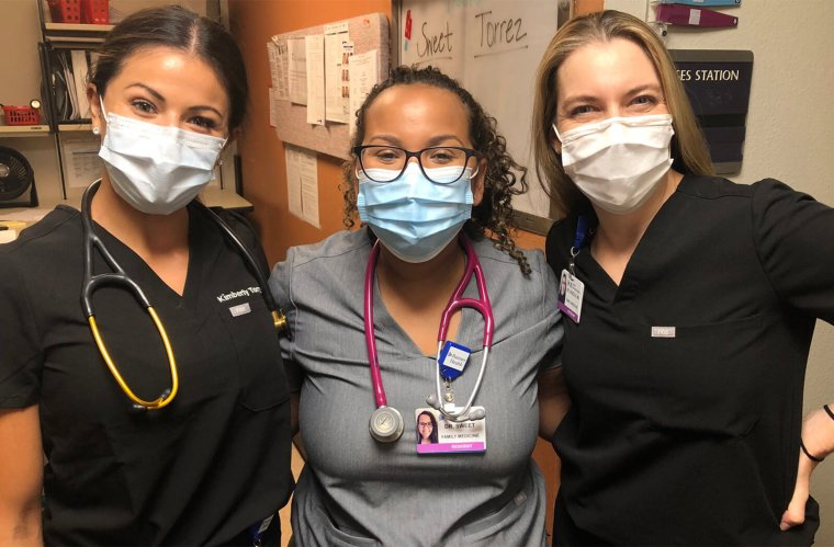 Three Women Health Care Workers in the Hospital Setting